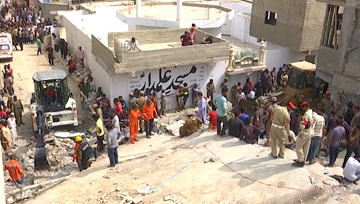 At least two killed in building collapse in Pakistan's Karachi