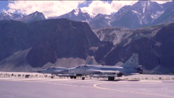 Pakistan Air Force holds operational drill in Gilgit Baltistan.